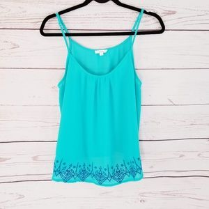 Mine Teal Embroidery Camisole